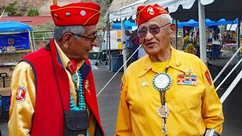 United States Marine Corps Code Talkers in Window Rock, Arizona.