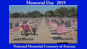 Memorial Day ceremony at the National Cemetery of Arizona.