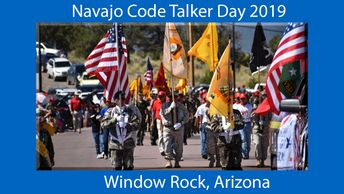 Navajo Code Talkers Day in Window Rock, Arizona. Marine Corps and Navajo Tribute.