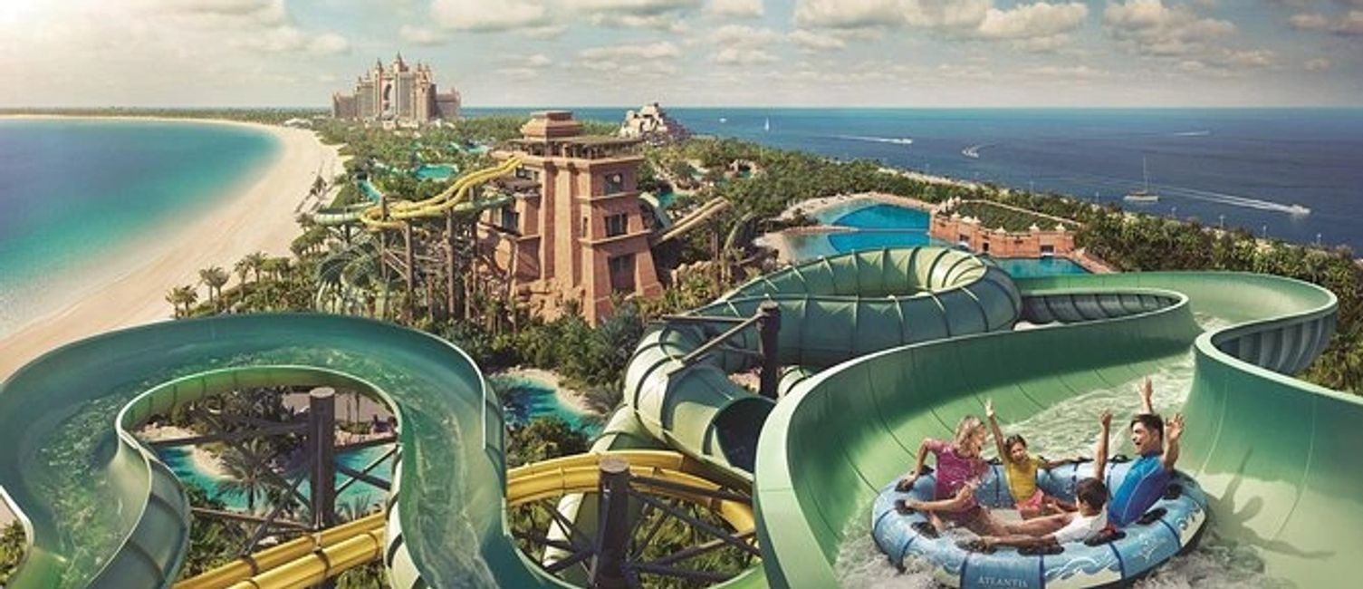 Aquaventure Waterpark Dubai  all-day ticket. Part of the Atlantis The Palm resort, Aquaventure Dubai