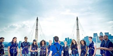 The O2 Climb in London is aamazingeam build experience company team builds