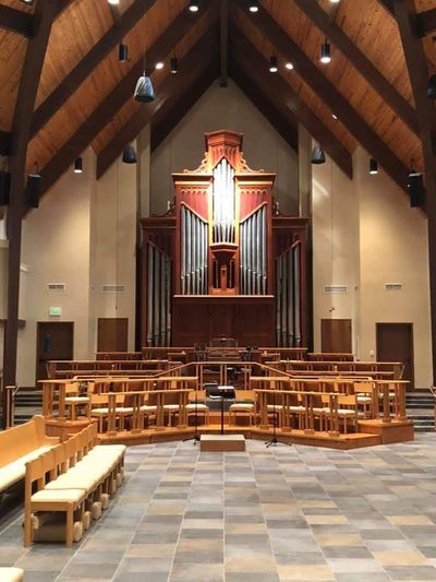 The Harrison & Harrison 3-manual,  44-rank pipe organ at Trinity Episcopal Church in Vero Beach, FL