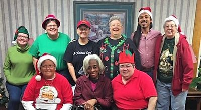 Forgiving Heart's Christmas Carolers at Muscogee Manor last December