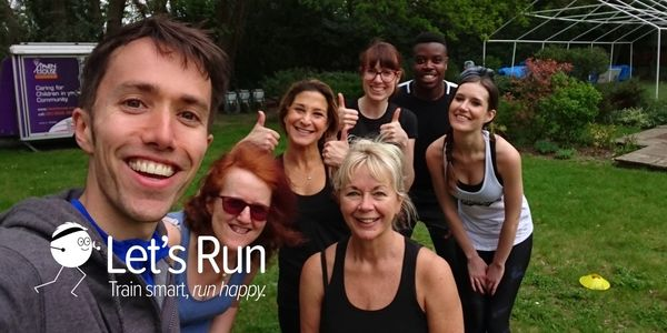 Let's Run Coach Ben with Anne and other from a HIIT running class