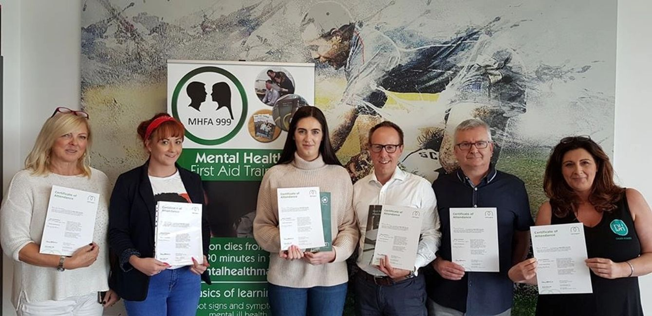 People that have just completed training with MHFA999 LTD.