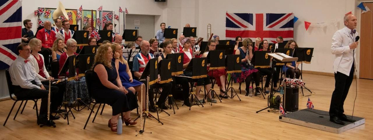 Stratford Concert Band performing in May 2019.