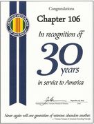 Tucson Chapter 106 celebrated 30 years in 2013