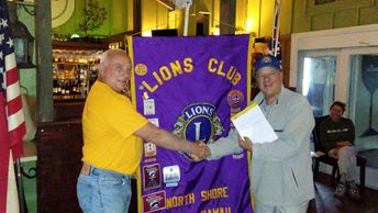 Lion Tex receives award from Lions International for recruiting new Lions as our membership Chair.