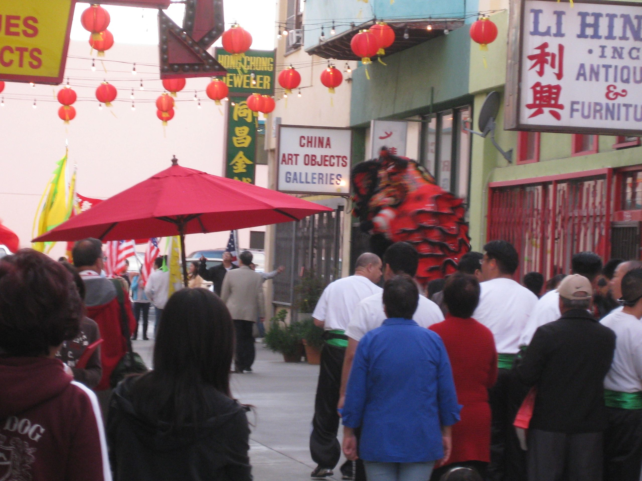 Chung King Road, a walking street, Chinatown Los Angeles was the location of  my studio for 10 yrs.