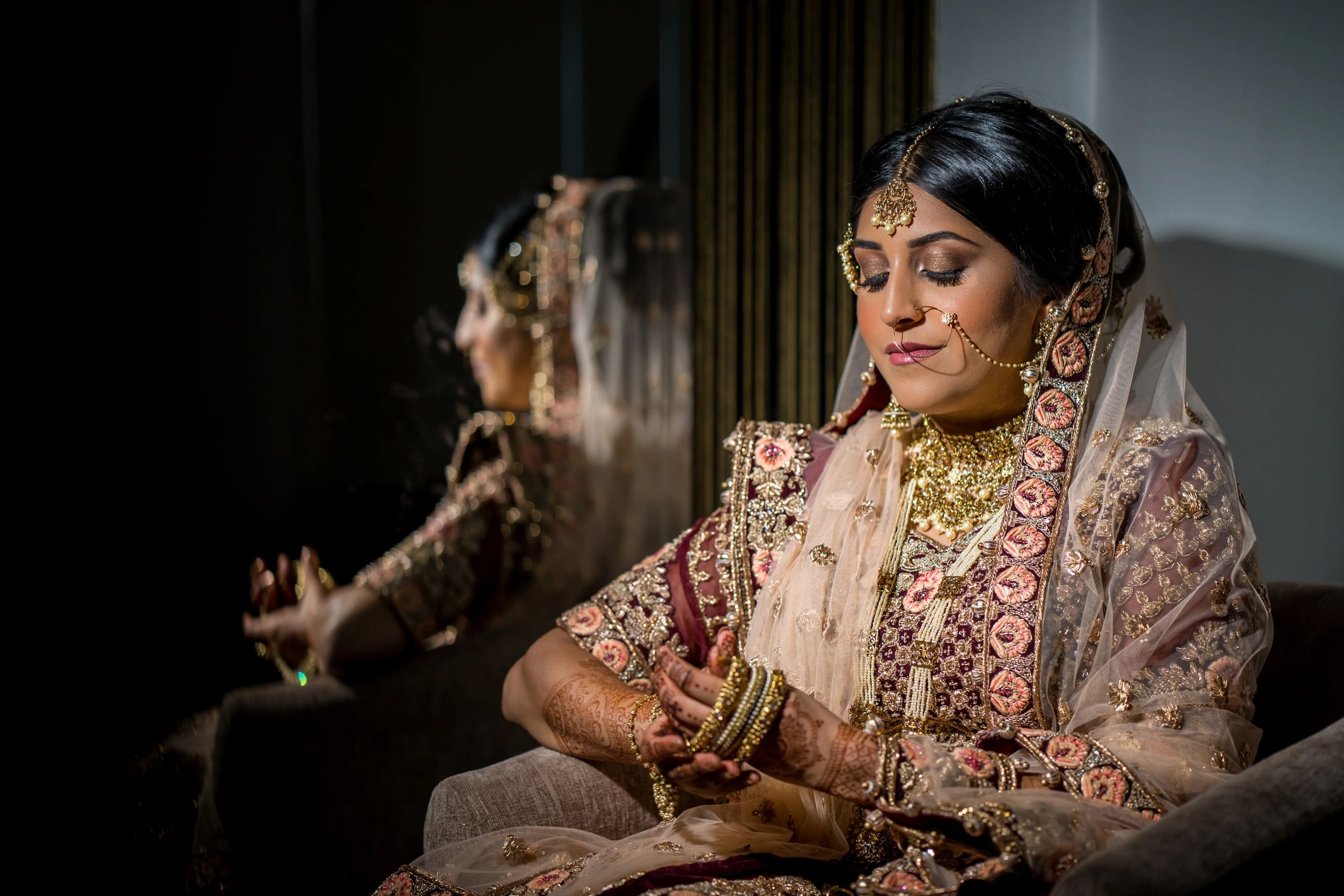 Asian bridal makeup London west London dubai makeup artist wedding bride indian bridesmaids UK