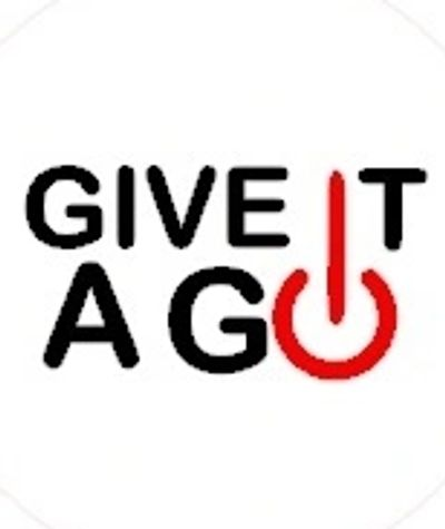 """GIVE IT A GO"" -  a simple communication revolution. Pin one on and start the conversation now!"
