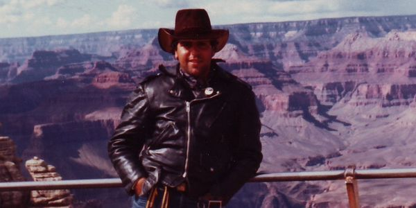 October 1983, south rim of The Grand Canyon.