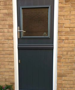 Elegant Anthracite Grey Stable door fitted for a customer's new rear door in Rainworth.