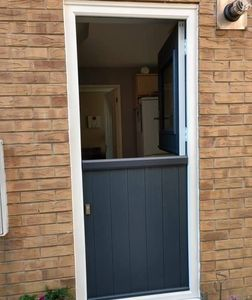 Anthracite Grey rear Stable composite door fitted in Rainworth.