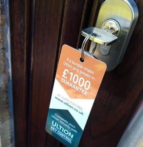 Brown Composite front door fitted by us with the Brisant Ultion cylinder lock.