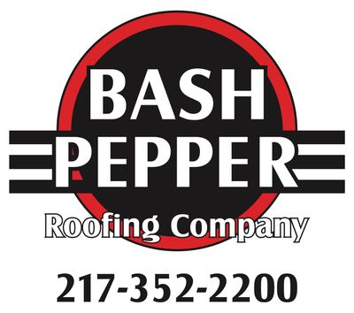 Bash Pepper Roofing for roofing repairs, leaking gutters, flat roofs, home siding, Champaign IL