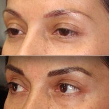 Permanent makeup is faded.  Need to redo re-do my permanent makeup.  Brows faded blue or grey.