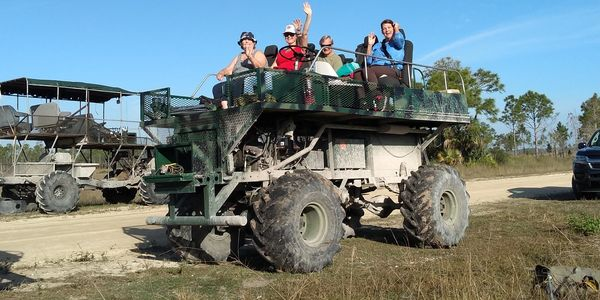 Big Cypress Swamp Tours,Swamp buggy leaving on tour,Concho billie trail turner river road