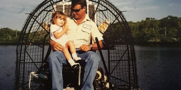 Captain Shannon Brown with daughter   airboat, airboat tours, everglades, family adventures