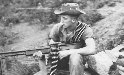 Author, age 19 outside Danang Vietnam 1965