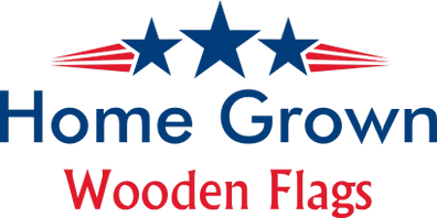 Home Grown Wooden Flags