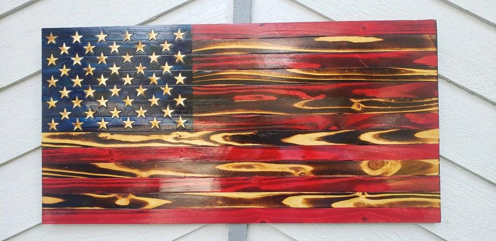 Executive American Flag Wooden