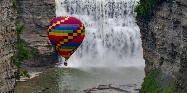 Ballooning Close to the Middle Falls
