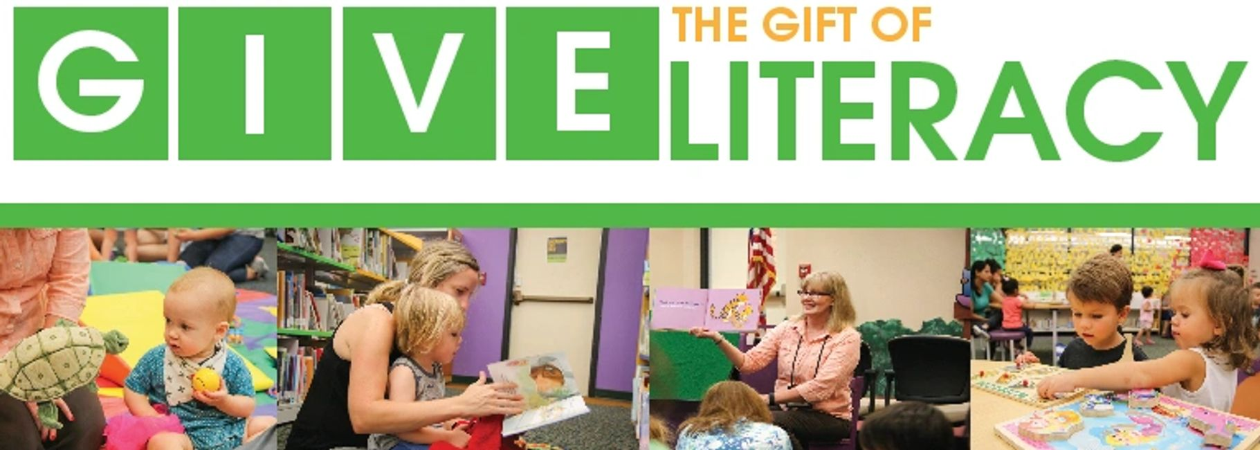 Give the Gift of Literacy support the Cedar Park Public Library Foundation