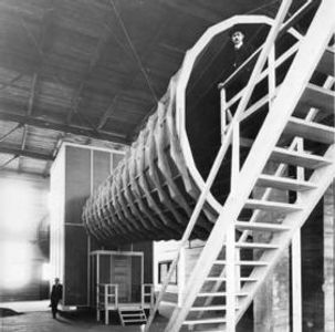 Wind tunnel at the facility