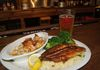Broiled Seafood Platter ~ blackened catfish, broiled scallops, stuffed shrimp