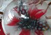 feather flower in an acrylic ornament
