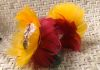 3 inch miniature uili uli with real feathers