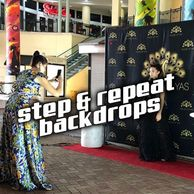 Step & Repeat Backdrops Banner Stands Media Event PR Stadium Arena Red Carpet Miami Fort Lauderdale