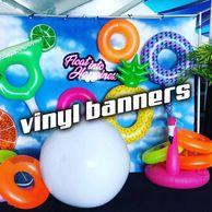 Vinyl Banner Printing Miami Signs SIgnage Fort Lauderdale Large Format Printer Advertising Step