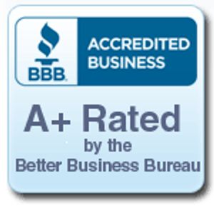Better Business Bureau Accredited & BBB A+ rated