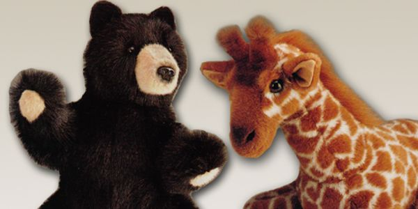 Plush Bear and Stuffed Giraffe designs