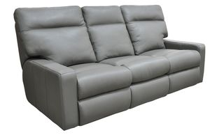 Track arm sofa with power reclining available to add power tilt headrest and lumbar features.