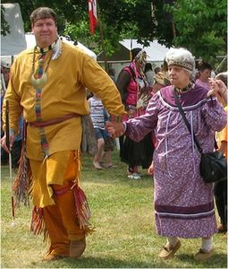 Chief Don Stevens with his mother.