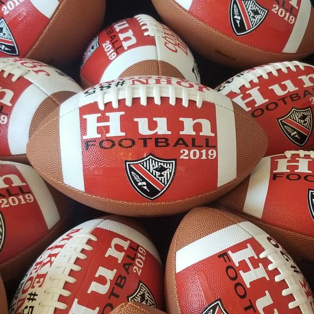 Custom Footballs for The Hun School of Princeton football banquet 2019