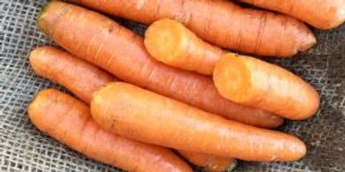 carrots on burlap background