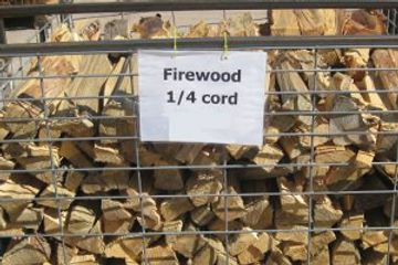 Buy 1/4 cord of firewood at Koi Lagoon in Fort Collins.