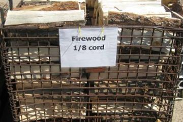 Buy 1/8 cord firewood at Koi Lagoon in Fort Collins.