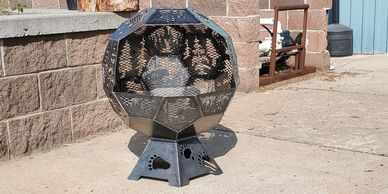 Customize a geodesic dome fire pit from Koi Lagoon in Fort Collins
