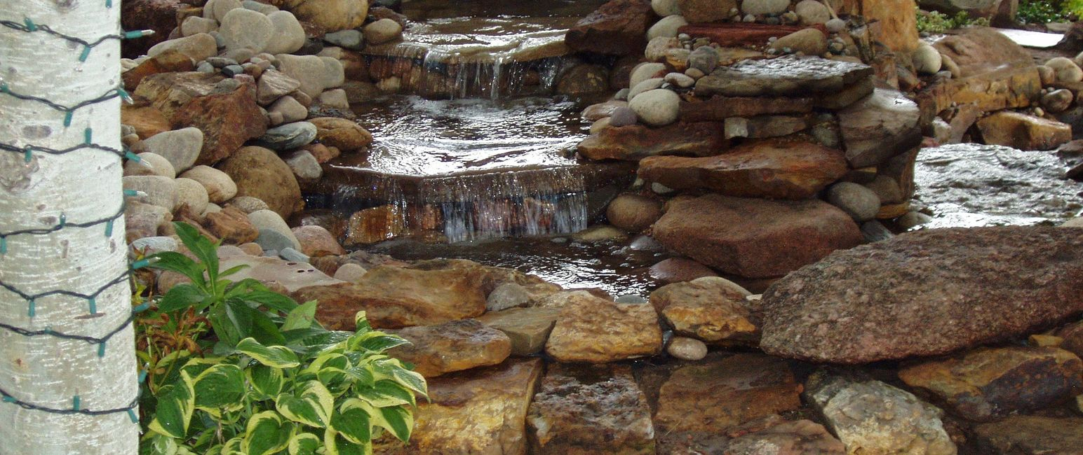 A beautiful water feature by Koi Lagoon