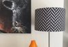 Drum lampshade in chevron pattern