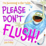 Meet Flick the Frog who loves swimming in the toilet... please don't flush!