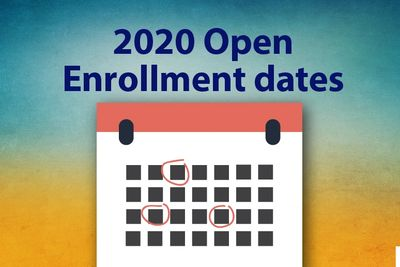 A.C.A. open enrollment dates 2019 for 2020 coverage year.