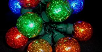 Tinsel Ball Globe LED Christmas Light String