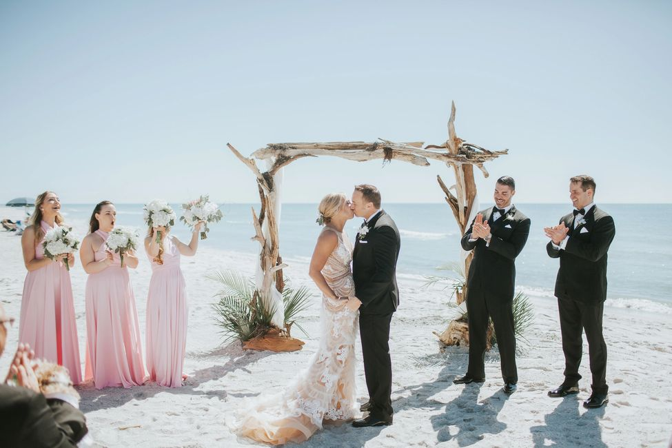 This Sarasota Wedding Driftwood Arch Decor Package
