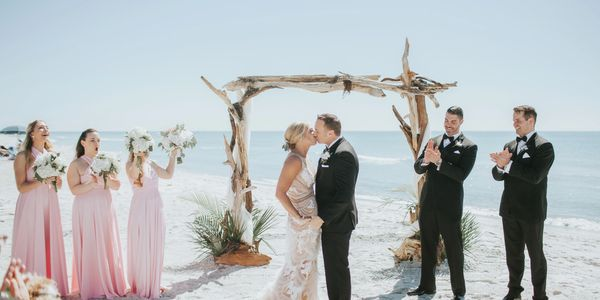 Siesta Key Beach Wedding Driftwood Arch  for your wedding   Beach Breeze Weddings, Sarasota FL